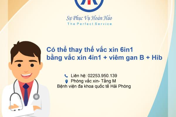 Có thể thay thế vắc xin 6in1 bằng vắc xin 4in1, Viêm gan B và Hib