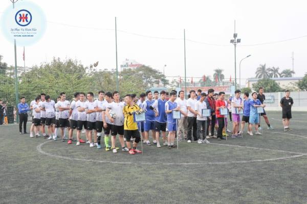 Khai mạc giải bóng đá Thanh niên Bệnh viện đa khoa Quốc tế Hải Phòng lần thứ I, năm 2019