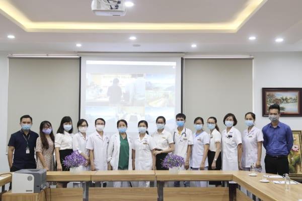 """Bệnh viện đa khoa Quốc tế Hải Phòng tham gia Dự án """"Khám chữa bệnh từ xa"""" của Bệnh viện Bạch Mai và Bệnh viện Tim Hà Nội trong mùa dịch Covid 19"""
