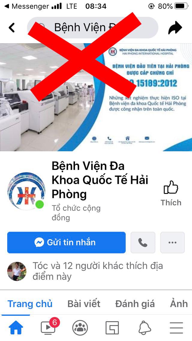 Cảnh báo: Xuất hiện nhiều trang thông tin mạo danh Bệnh viện đa khoa Quốc tế Hải Phòng để trục lợi