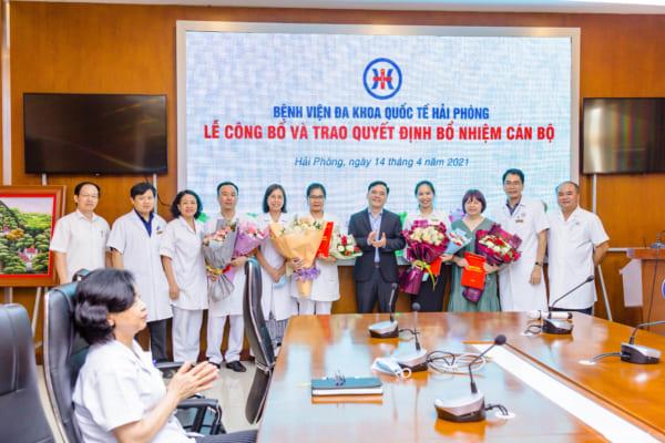 Công bố và trao quyết định bổ nhiệm cán bộ tại Bệnh viện đa khoa Quốc tế Hải Phòng
