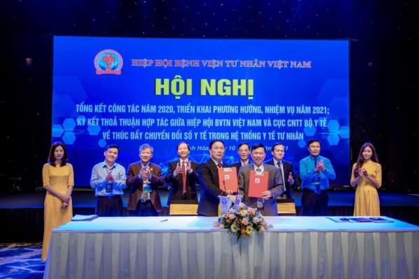 Hội nghị tổng kết công tác năm 2020, triển khai phương hướng, nhiệm vụ năm 2021; Ký kết thoả thuận hợp tác giữa Hiệp hội Bệnh viện tư nhân Việt Nam và Cục Công nghệ thông tin Bộ Y tế về thúc đẩy chuyển đổi số y tế trong hệ thống y tế tư nhân