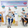 Hàng nghìn công nhân, người lao động tại Khu công nghiệp được tiêm vắc xin phòng Covid 19 trong chiến dịch tiêm vắc xin Vero Cell năm 2021