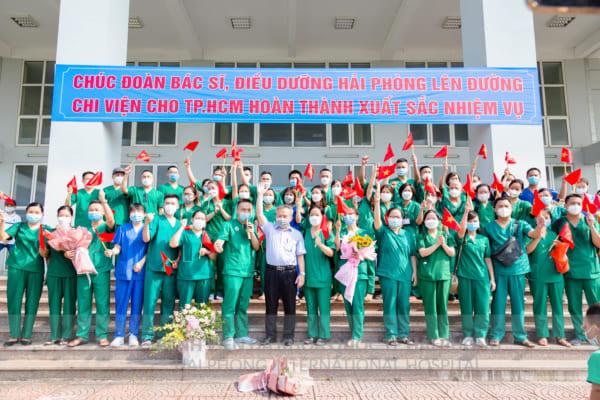 """Bệnh viện đa khoa Quốc tế Hải Phòng tiếp tục lên đường chi viện """"Vì miền Nam thân yêu"""""""